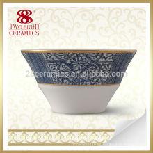 cuenco de porcelana azul y blanco chino, cuenco de arroz azul clásico