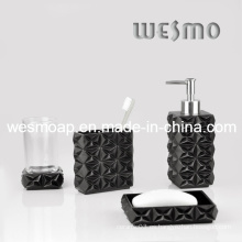 Imitado de madera tallado conjunto de baño de poliresina (wbp0287a)