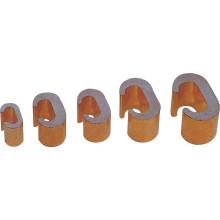 Braçadeira de conexão de cobre tipo c