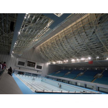 Techo de acero prefabricado de la estructura del marco de acero para la cubierta de la piscina