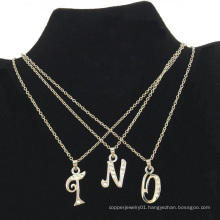 2016 Fashion Silver Letters Necklace for Lady (FLN16040701)