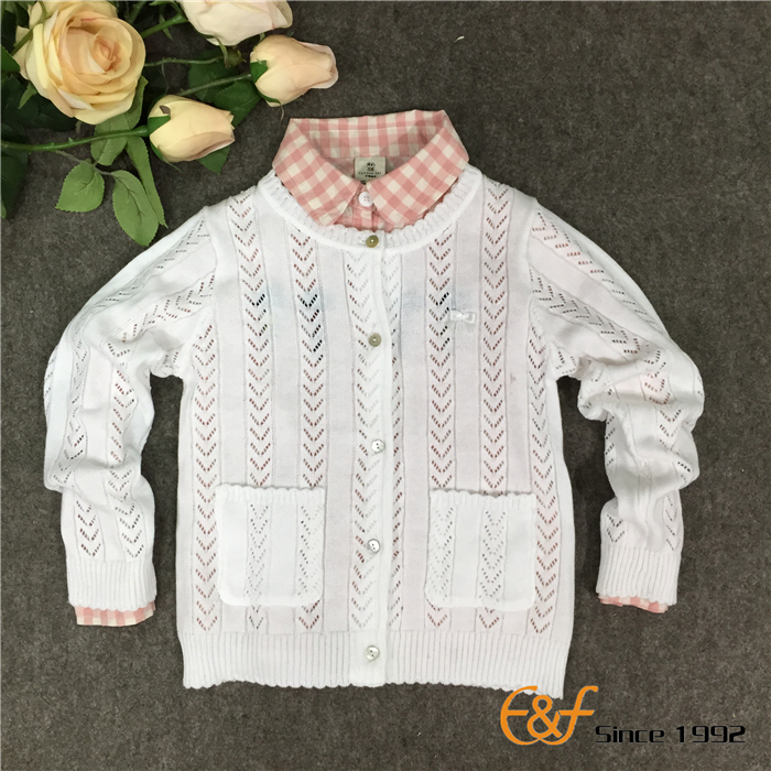 Hollow Design Cardigan Sweater for Baby Girls