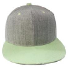 Tampão Snapback com pico plano com coroa de lã (1402E)