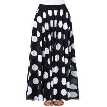 Kate Kasin Mujer De Moda De Verano De Alta Cinturón Polka Dots Larga Falda De Gasa KK000295-1