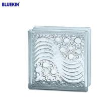 heißer Verkauf 190 * 190 * 80mm innere Farbe Glasblock