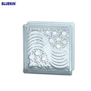 hot sale 190*190*80mm inner color glass block