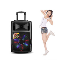 "New 80W 12"" Portable Trolley Speaker with Guitar Input"