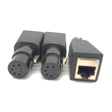XLR 5P Female to RJ45 Jack Adapter