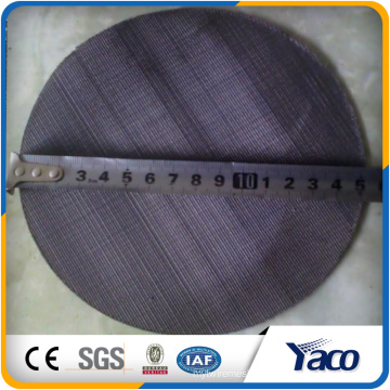 2016 hot sales black wire mesh, Filter disc 40 mesh Black Wire Cloth