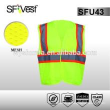 ANSI / ISEA107 Standard Für Straßenfahrer Sicherheit reflektierende Sicherheit hi vis Weste Taschen