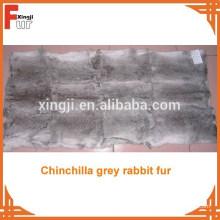 Placa de piel de conejo de pelo largo natural