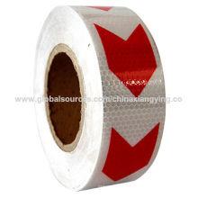 PVC-Pfeil, Rot und Weiß mit unterschiedlicher Größe des reflektierenden Bands für Fahrzeug