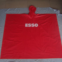 Poncho impermeable de lluvia de PVC de emergencia con capucha