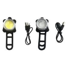 COB LED USB wiederaufladbares Fahrradlichtset