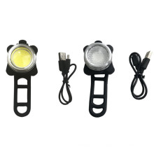 COB levou USB recarregável conjunto de luz de bicicleta