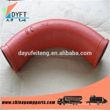 DN125 Betonpumpe Ersatzteile Bogen Rohr Fabrik, wo es in China Liaocheng Tianrui Stahlrohr Unternehmen ist