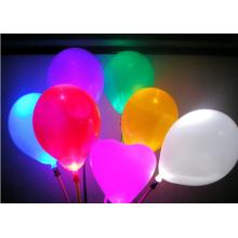 LED Light Up Latex Balões de festa de aniversário de casamento