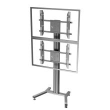 Public TV Floor Stand Dual Screen 30-60′ (AVA 201C)