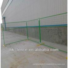 Le meilleur prix 6x10ft Canada vert pvc enduit clôture temporaire / panneaux de clôture portables / clôture de fil décoratif (fabrication) ISO9001