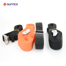 Custom logo hook and loop luggage strap with plastic buckle