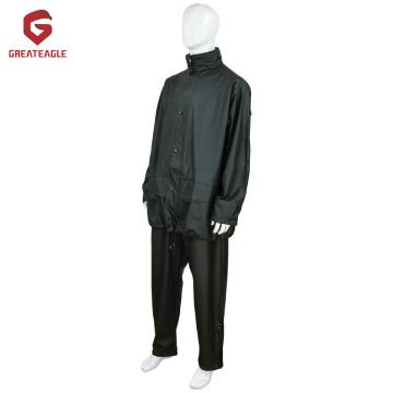 High quality PU rain coat suit