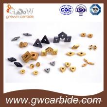 Pastilhas de torneamento CNC indexáveis em metal duro
