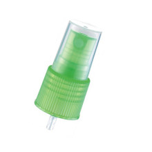 Brume en plastique de couleur verte pour bouteille cosmétique (NS12)