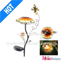 Mode Metall Frosch Stake Pilz Licht Solar Garten Licht