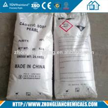 Alta qualidade de qualidade superior preço de mercado soda cáustica flocos de 98% fabricantes