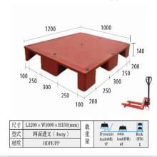 HDPE Heavy Duty Прочный пластиковый инъецируемый лоток для складского транспорта