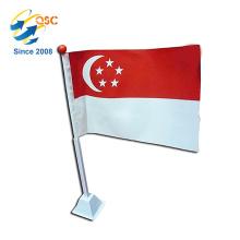 Vente en gros personnalisé mini drapeaux singapour drapeau national