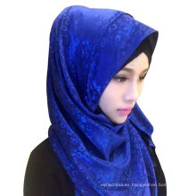 Nueva Ladys Bufanda de chifón de cabeza alta calidad Bufanda de chal musulmán de larga duración Hijab