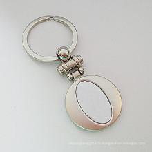 Porte-clés métallique en alliage de zinc personnalisé pour cadeau promotionnel (F1149)