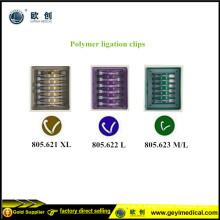 Grampos Laparoscópicos de Hemolok de Polímero
