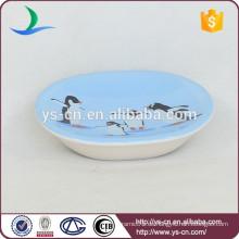 YSb40092-02-sd Klassische Art keramische Seifenschale mit Kornentwurf