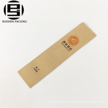 Offset printing food grade coated kraft paper toothbrush bedding bag for hotel