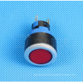 Plastic SPDT Stay Put LED Light Illuminated Pushbutton Switch