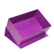 Таможенная складная фиолетовая бумажная подарочная коробка для обуви
