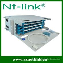 Panel de parche de fibra óptica al aire libre de 24 pulgadas 24 núcleos