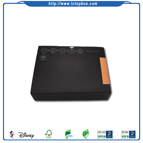 Newly Designed Black Kraft Paper Packaging Box