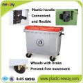 Uso ao ar livre e Bin Recipiente De Lixo De Recurso Eco-Friendly 1100L