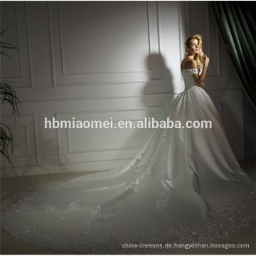 Weißes Meerjungfrau-Spitze-Hochzeitskleid der Farbe 2018 schnüren sich oben Ballkleid-Hochzeitskleidschatz