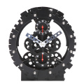 Germany Black Round Table Gear Clock