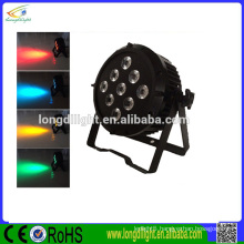 China New LED Par 64 9leds 10w RGBW 4 in 1 dmx stage mini par light