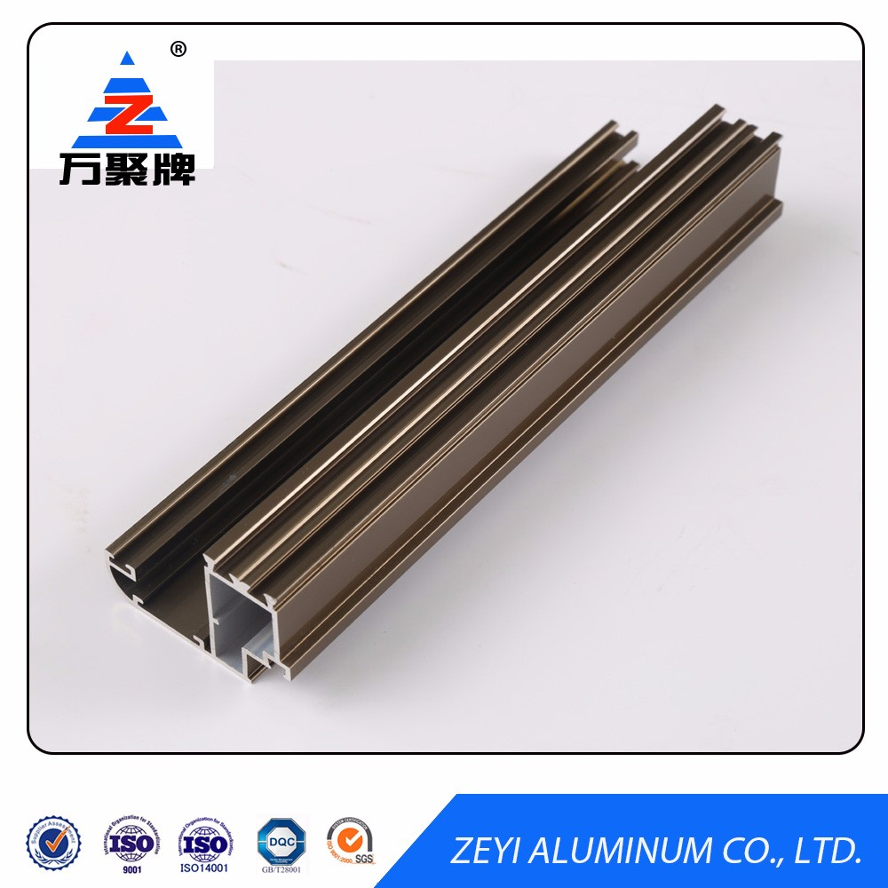 Customized extruded aluminum section for window and door