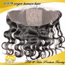 100% unprocess cabelo Humano cheio de renda superior de seda frontal / rendas frontal com base de seda