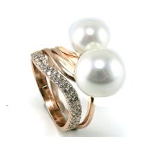 Joyería de plata del anillo 925 de la perla de la manera de la venta caliente de la mujer (R10353)