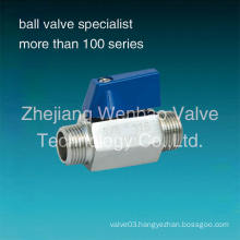 Male and Male Thread Stainles Steel Mini Ball Valve M/M