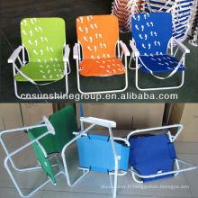 Profil bas plage chaise, chaise de plage pliante