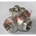 3 way stainless steel dn50 lever handle ball valve